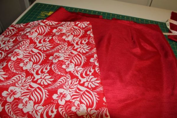 High Waisted Pencil Skirt - New lining chosen for red skirt