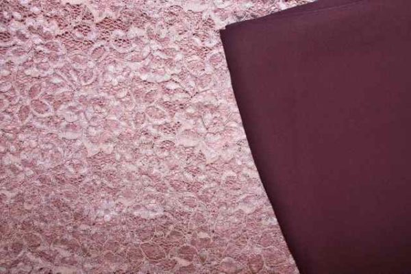 Dusty Pink Lace and complimentary lining fabric
