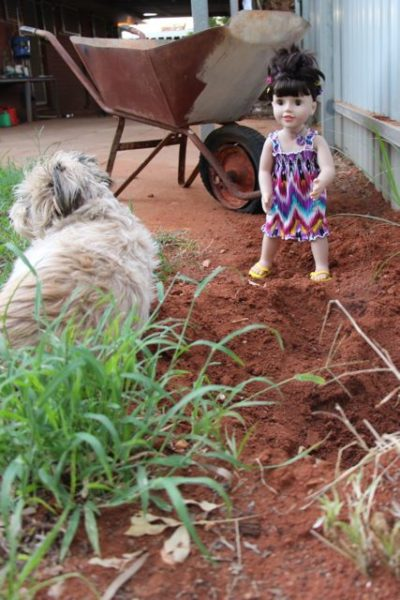 Ooh Ahh Zoe did you dig this hole… Mummy is going to go mad on you