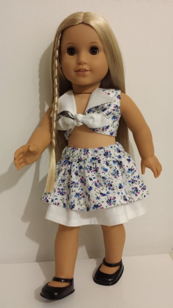 American Girl Doll Skirt and Top