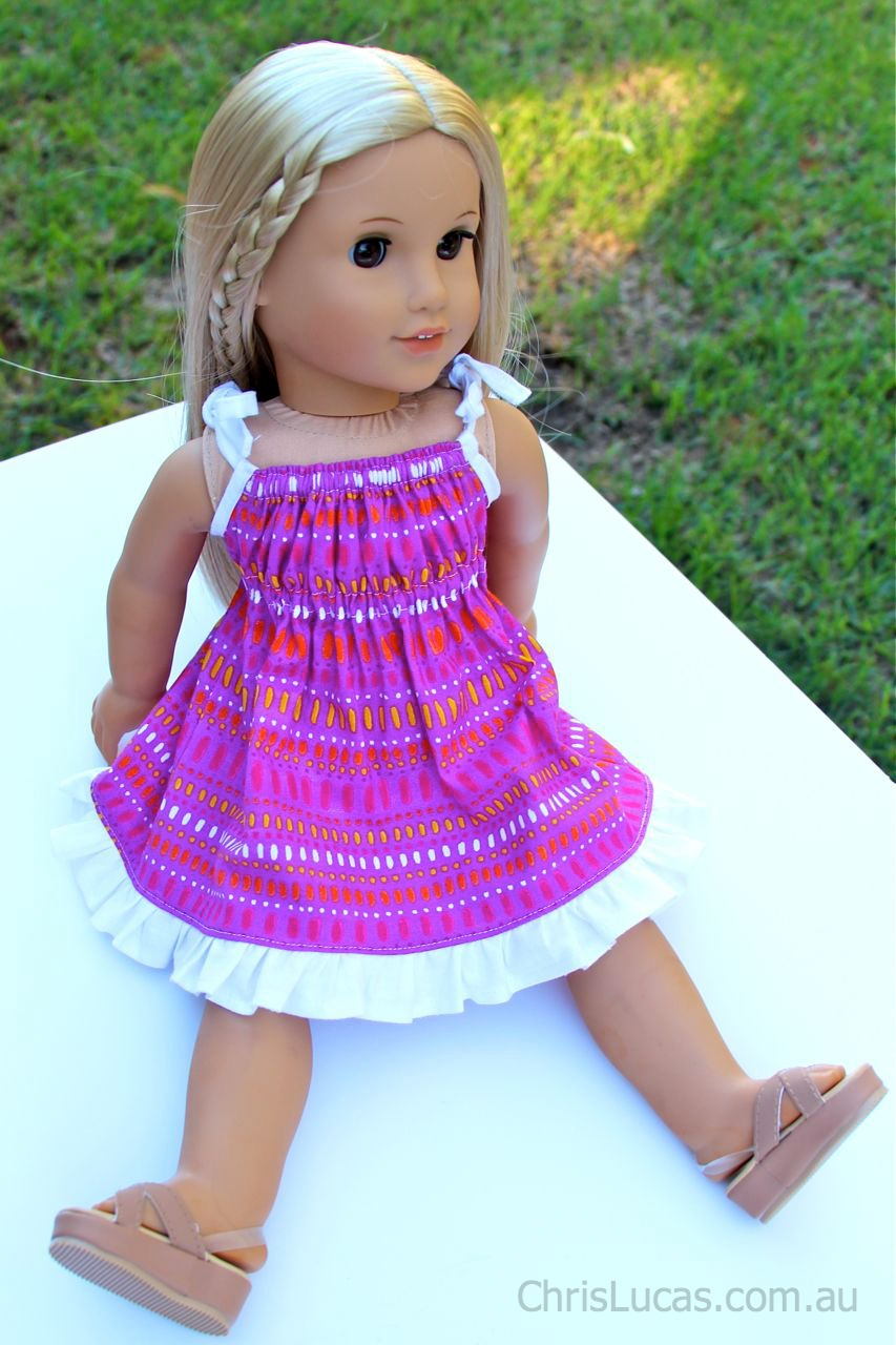 girl dolls dress   pretty in pink   also fits american girl dolls