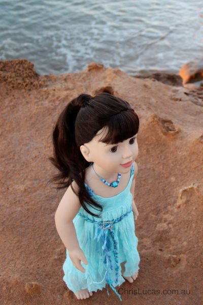 Australian Girl Doll Annabelle - Chris Lucas Design Original Dress Sea Breeze