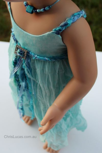 Australian Girl Doll Annabelle -Dress by Chris Lucas Designs - Sea Breeze
