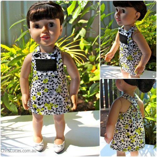 Australian Girl Doll Pinafore Dress - Chris Lucas Designs