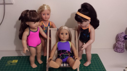 American Girl Doll Swimwear and Deck Chair - Chris Lucas Designs