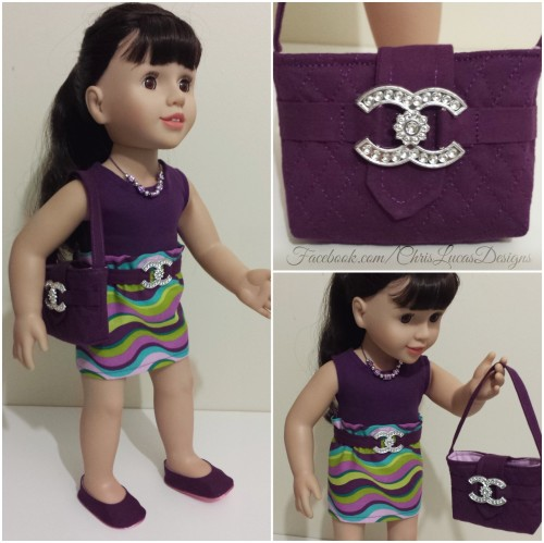 Australian Girl Doll - Chanel Inspired outfit by Chris Lucas inc Handbag Shoes Belt Skirt Top Necklace #AGDoll