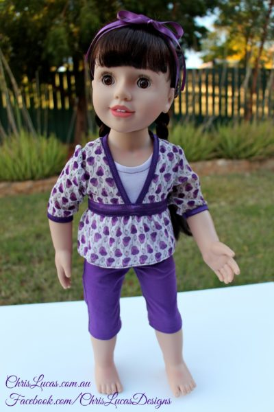 Australian Girl Doll Belle - Capri Pants Tops - Giveaway Outfit - Chris Lucas Designs