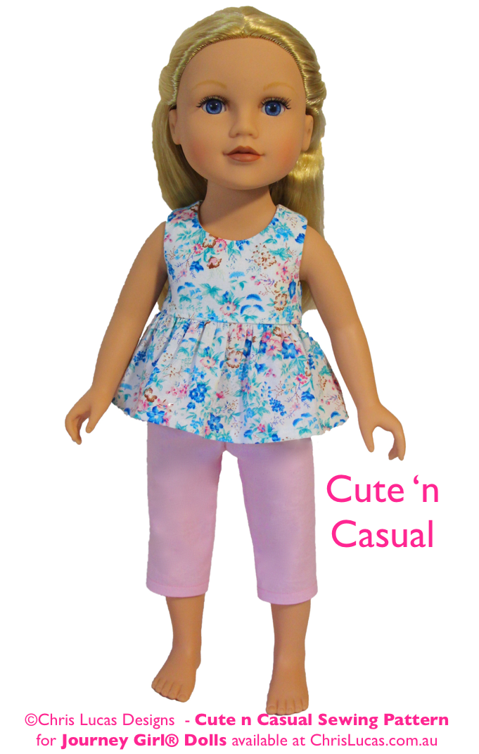 journey girl cute n casual journey girl doll sewing pattern