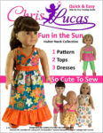 Chris Lucas Designs - Fun in the Sun - Halter Neck Collection - AG Doll Sewing Pattern