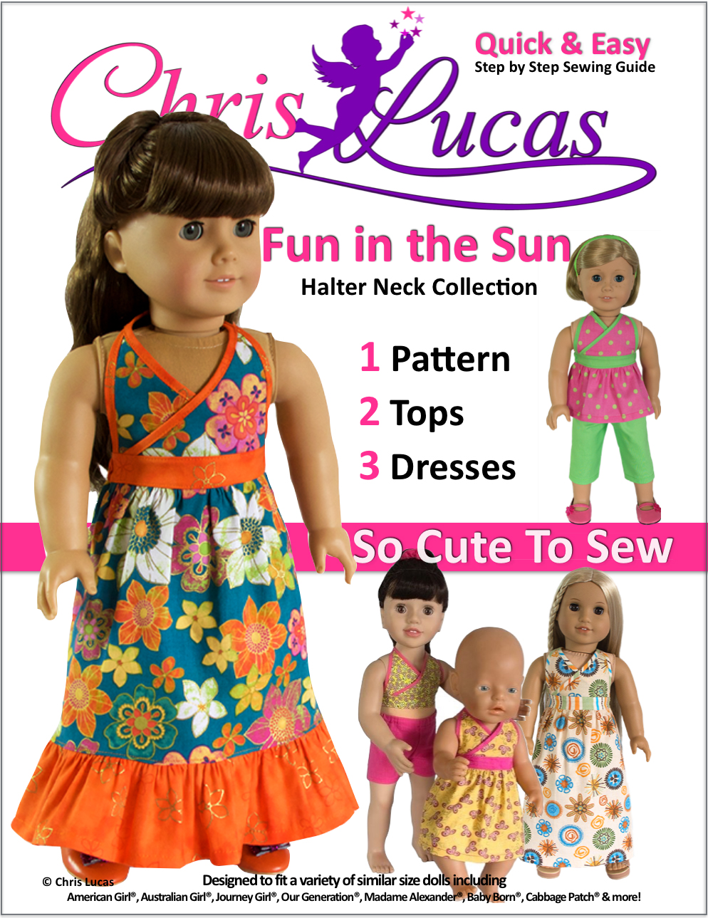 Fun in the Sunl Doll Sewing Pattern
