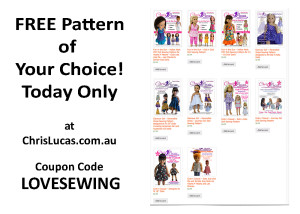 FREE Doll Sewing Pattern of Your Choice for Today only!